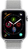 Apple Watch Series 4 44mm Zilver Aluminium/Grijze Nylon Spor