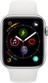 Apple Watch Series 4 44mm Zilver Aluminium/Witte Sportband
