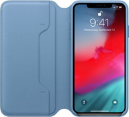 Apple iPhone Xs Max Leather Folio Book Cape Cod Blue