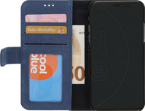 Decoded Leather 2-in-1 Wallet iPhone X / Xs Book Case Blue