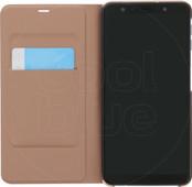 Samsung Galaxy A7 (2018) Wallet Book Case Gold