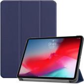 Just in Case Smart Tri-Fold Apple iPad Pro 11 Inch (2018) Book Case Blauw