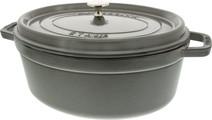 Staub Oval Dutch Oven 31cm Graphite Gray