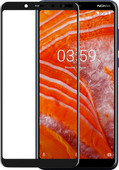Azuri Gehard Glas Nokia 3.1 Plus Screenprotector Glas Zwart