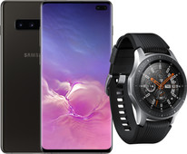 Samsung Galaxy S10 Plus 1TB Keramisch Zwart + Samsung Galaxy Watch Zilver
