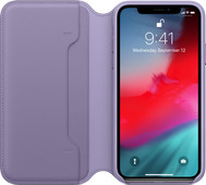 Apple iPhone Xs Leather Folio Lilac