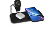 ZENS Dual & Watch Aluminum Wireless Charger 10W Black