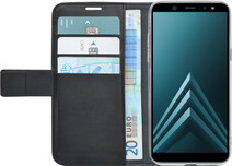 Azuri Wallet Magnetic Samsung Galaxy A6 (2018) Book Case Black
