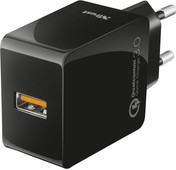 Trust Ultrafast Usb-a Home Charger 3A Quick Charge Black