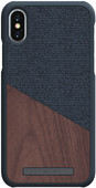 Nordic Elements Frejr Apple iPhone X / Xs Back Cover Dark Gray / Wood
