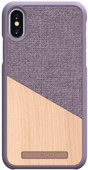 Nordic Elements Frejr Apple iPhone X/Xs Back Cover Purple/Wood