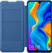 Huawei P30 Lite Flip Cover Book Case Blauw