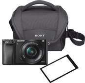 Sony Alpha A6000 Black + 16-50mm OSS + Bag + Screen protector
