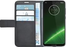Azuri Wallet Magnet Motorola Moto G7 Plus Book Cover Black