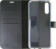 Valenta Booklet Gel Skin Samsung Galaxy A70 Black Leather