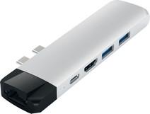 Satechi Type-C Pro Hub Ethernet & 4K HDMI Silver