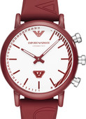 Emporio Armani Connected Rood/Zilver