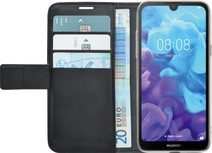 Azuri Wallet Magneet Huawei Y5 (2019) Book Case Zwart