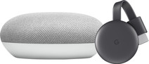 Google Chromecast V3 + Google Home Mini Wit