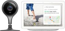 Google Nest Cam Indoor + Google Nest Hub Chalk