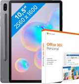 Samsung Galaxy Tab S6 256GB WiFi Grijs + MS Office 365 Personal