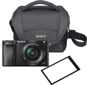 Sony A6000 Black + PZ 16-50mm OSS + case + screen protector