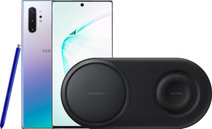 Samsung Galaxy Note 10 Plus 256GB Silver + Samsung Wireless Charger DUO Pad Black