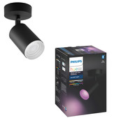 Philips Hue Fugato Spot White & Colour Bluetooth zwart