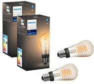 Philips Hue Filamentlamp White Edison E27 Bluetooth Duo Pack