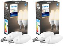 Philips Hue Kaarslamp White E14 4 Pack Bluetooth