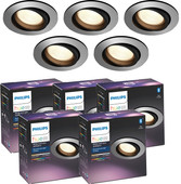 Philips Hue Centura Inbouwspot White & Colour Rond aluminium 5-Pack