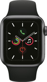 Apple Watch Series 5 40mm Space Gray Aluminum Black Sport Band