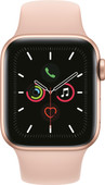 Apple Watch Series 5 40mm Gold Aluminum Pink Sport Band