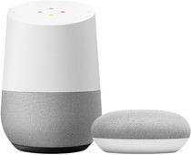 Google Home + Google Nest Mini Wit