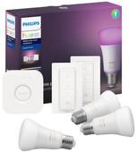 Philips Hue White & Colour Startpakket E27 met 3 lampen + 2 dimmers