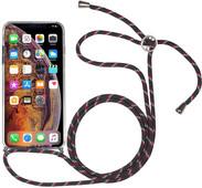 StilGut iPhone X/Xs Back Cover met Koord Transparant
