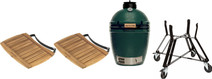 Big Green Egg Medium Complete + Side Tables + Underframe