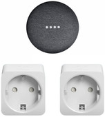 Google Home Mini Grijs + Philips Hue Slimme Stekker Duo Pack