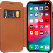 Decoded Leather Slim Wallet Apple iPhone Xr Book Case Brown