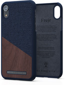 Nordic Elements Frejr Apple iPhone Xr Back Cover Blue / Wood