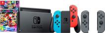 Nintendo Switch (2019 Upgrade) Rood/Blauw Mario Kart + Joy-Con set Grijs