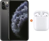 Apple iPhone 11 Pro 64 GB Space Gray + Apple AirPods 2 met oplaadcase