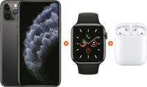 Apple iPhone 11 Pro 64 GB Space Gray + Apple Watch 5 44mm + Apple AirPods 2 met oplaadcase