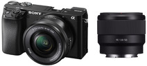 Sony Alpha A6100 + 16-50mm f/3.5-5.6 OSS + 50mm f/1.8