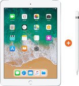 Apple iPad (2018) 128 GB Wifi Zilver + Pencil