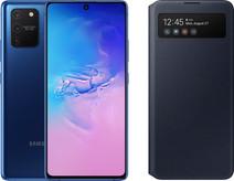 Samsung Galaxy S10 Lite Blue + Samsung S View Wallet Cover Black