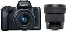 Canon EOS M50 + 15-45 + Sigma 56mm