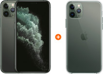 Apple iPhone 11 Pro 256 GB Midnight Green + Apple iPhone 11 Pro Clear Case