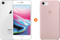 Apple iPhone 8 64GB Zilver + Back Cover