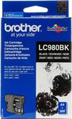 Brother LC-980BK Black Ink Cartridge (Zwart)